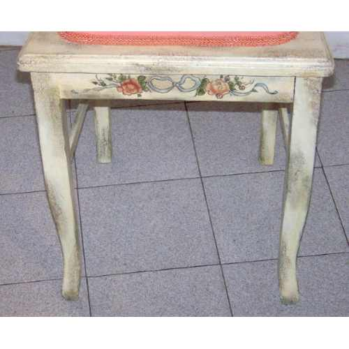 Silla shabby chic salmon de muebles del anden - Muebles shabby chic online ...